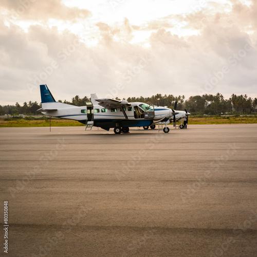 Plexiglas Luchthaven Airplanes Zanzibar
