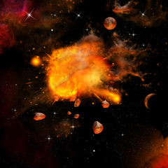 Explosion of a planet