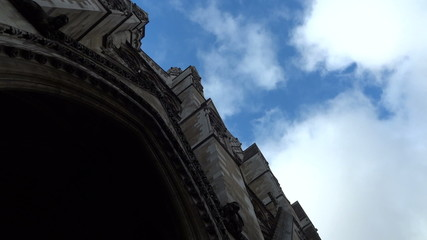 Sky above  Westminster Abbey