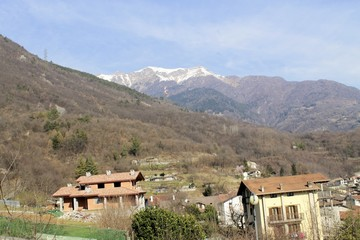 landscape of Camonica Valley in northern Italy