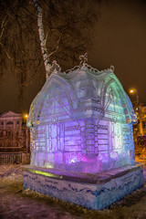Ледяная скульптура. Кошкин Дом.
