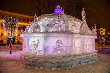 Ледяная скульптура. Куликовская Битва.