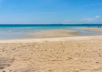 texture of sand beach of Koh Kood, Thailand sea