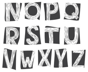 hand drawing doodle alphabet