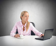 Businesswoman working and relax