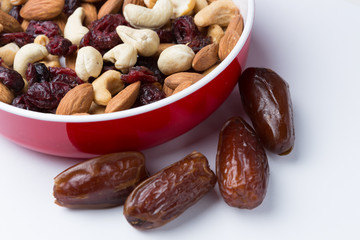 Mixture of Nuts and Dry Fruits
