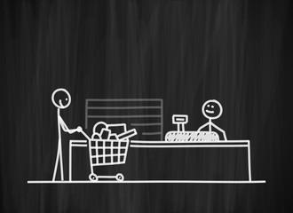 tafel mk supermarktkasse I