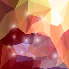 Abstract bright polygonal triangular background with lights