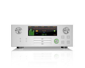 stereo hi-fi receiver  ,on white background