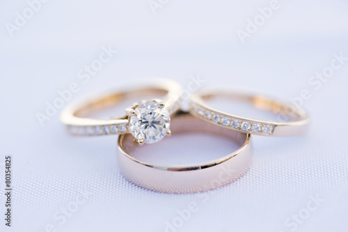 Leinwanddruck Bild Wedding Rings