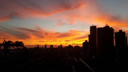 Incredible sky sunset