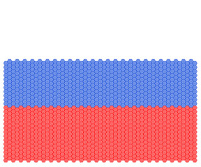 Illustration Russia national flag nation people octagon concept