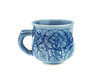 Old style ceramic coffee cup