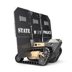 The Robotic Ballistic Shield. Isolated.