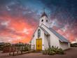 Leinwanddruck Bild - Historical church