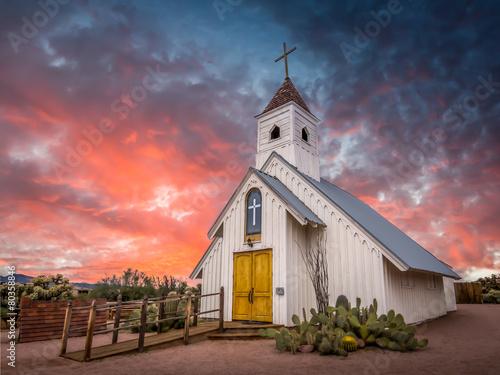 Leinwanddruck Bild Historical church