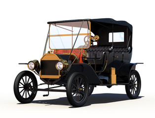 Antique Car with Clipping Path.
