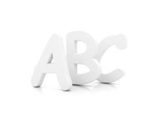A B C 3d letters