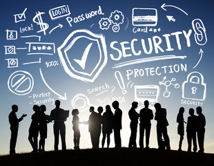 Business People Discussion Security Protection Information