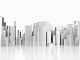 Architectural concept 3d city