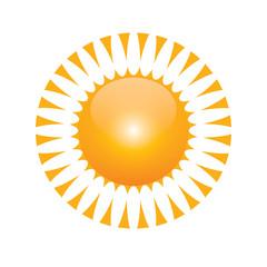 Vector symbol of sun 001