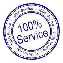 100% Service Stempel