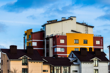 Colorful low-rise building