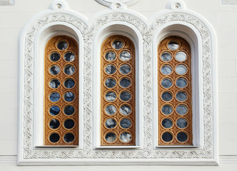 Architecture and windows of renaissance style classical building