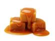 Leinwandbild Motiv Caramel toffee and sauce isolated