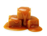 Caramel toffee and sauce isolated - 80362063