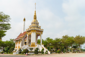 Crematory with sky background at Wat Wat bungba