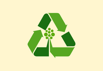Recycle tree ecology logo vector