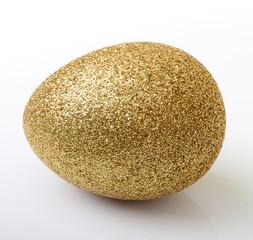Easter golden egg isolated