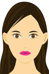 きれいな女性の顔のイラスト