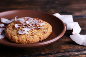 Cookie with coconut chips