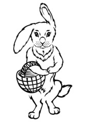 Easter Rabbit with basket