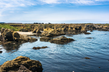The rocky coast of Fort Bragg, California