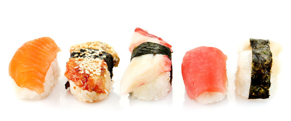 Sushi set isolated on white