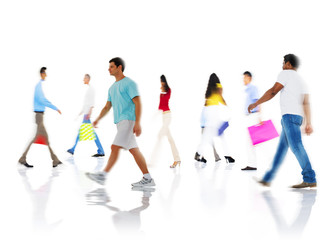 Community Group of People Buying Shopping Concept