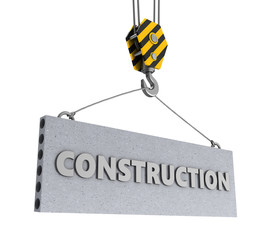 construction sign and hook