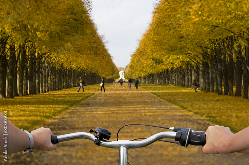 Leinwanddruck Bild Radtour