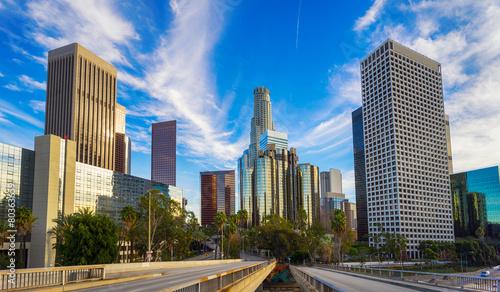 Los Angeles city skyline - 80363659
