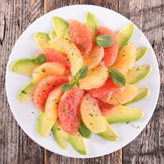 grapefruit and avocado salad