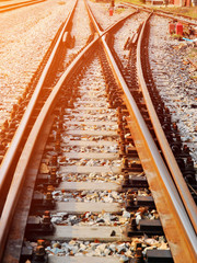 Detail of railway with soft light and soft focus style