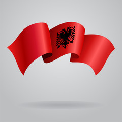 Albanian waving Flag. Vector illustration