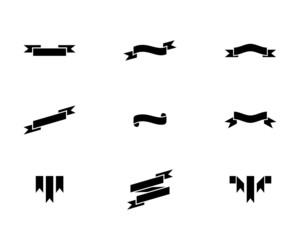 Black Ribbon Icons