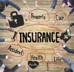 Insurance Business Protection Safety Planning Office Concept