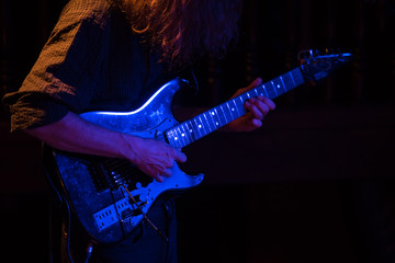 electric guitar in concert