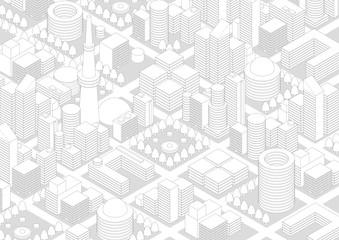 City Landscape line drawing
