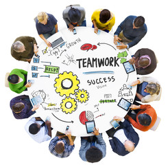 Teamwork Team Together Collaboration Meeting Technology Concept
